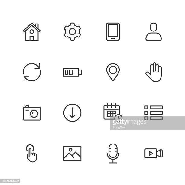 モバイルコントロールのアイコン - ソフトウェアアップデート点のイラスト素材/クリップアート素材/マンガ素材/アイコン素材