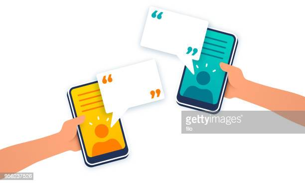 mobile device communication - video conference stock illustrations