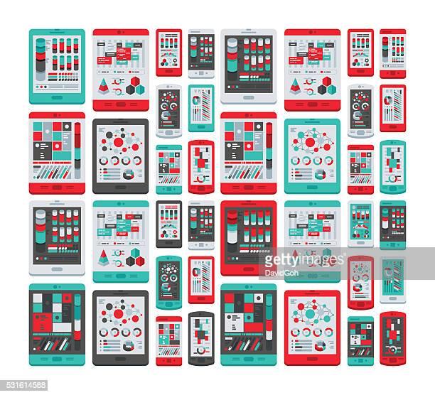 Mobile Devices Flat Design Set