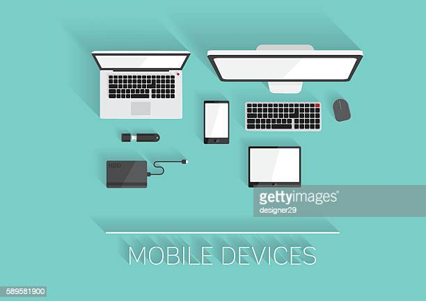 Mobile Devices Flat Design