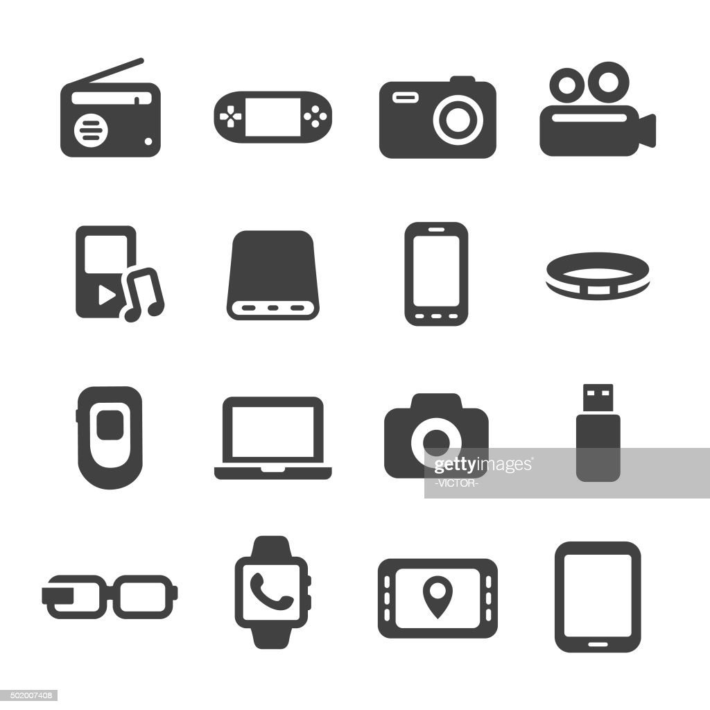 Mobile Devices Icon - Acme Series : Stock Illustration