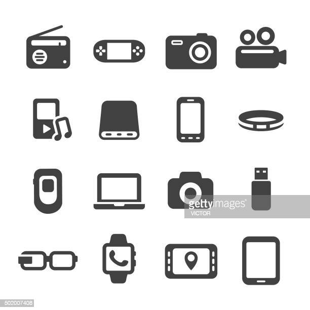 mobile devices icon - acme series - video camera stock illustrations, clip art, cartoons, & icons