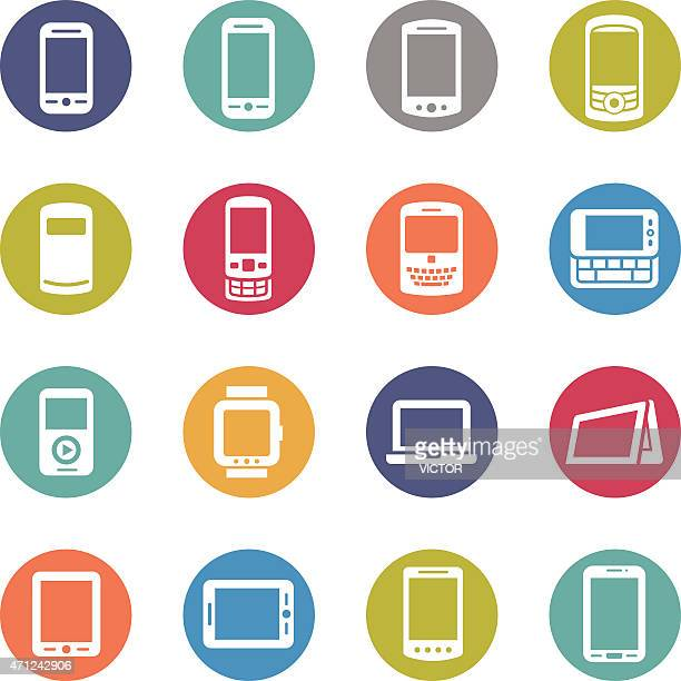 Mobile Devices Icon - Circle Series