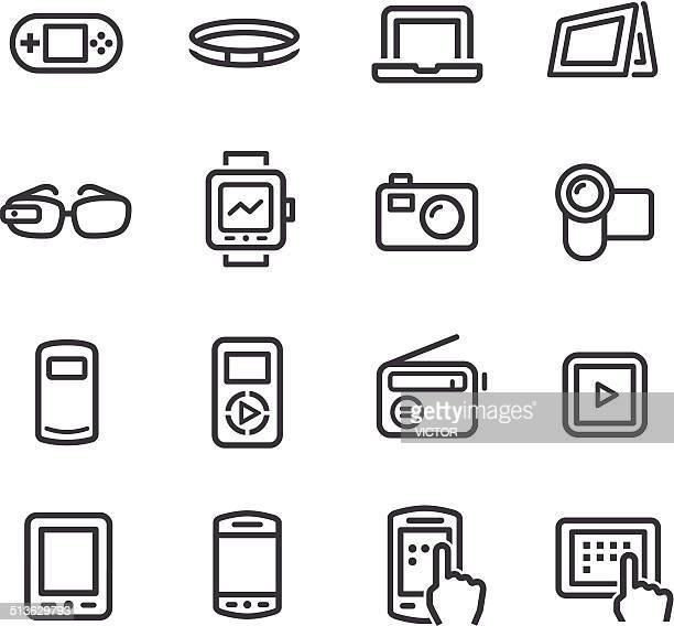 Mobile Geräte-Symbol-Line Serie