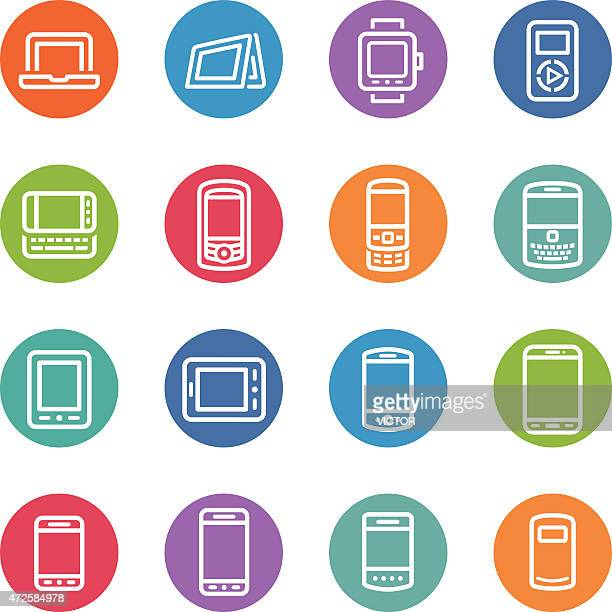 Mobile Devices Icons - Circle Line Series