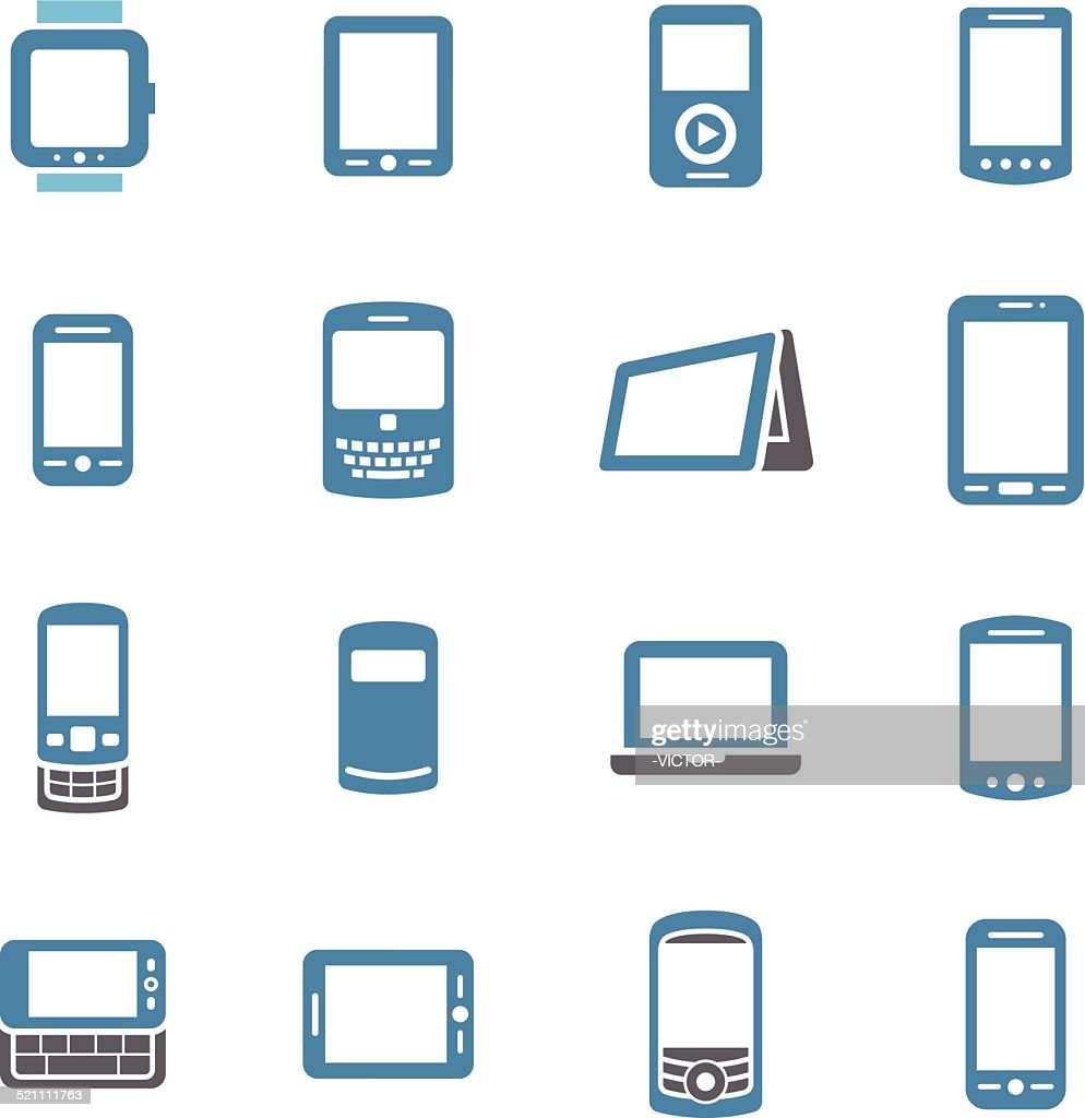 Mobile Devices Icons - Conc Series