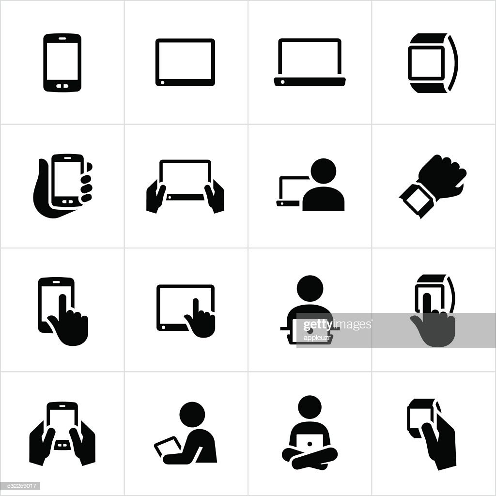 Mobile Devices Icons : stock illustration
