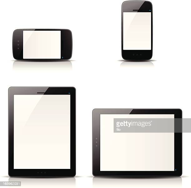 mobile devices - blank screen stock illustrations, clip art, cartoons, & icons