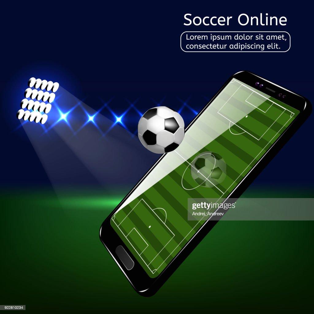 Mobile football soccer. Mobile sport play match.