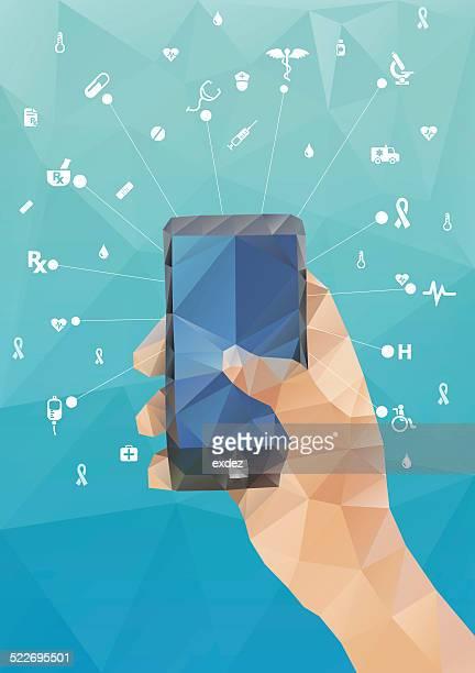 モバイルヘルスケアの - heart shape点のイラスト素材/クリップアート素材/マンガ素材/アイコン素材