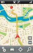 Mobile gps navigator interface