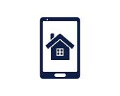 mobile home glyph icon