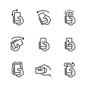 Mobile interaction - Pixel Perfect outline icons