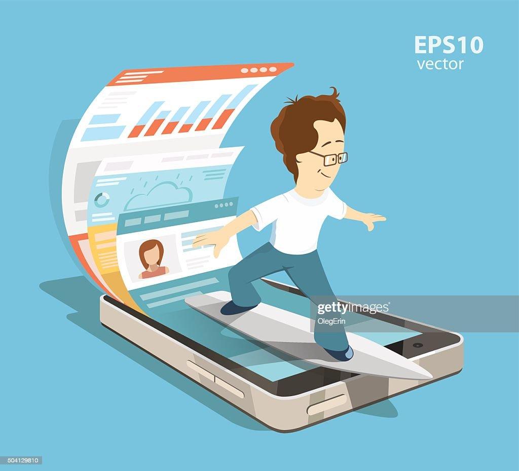 Mobile internet surfing