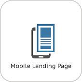 Mobile Landing Page Icon. Flat Design.
