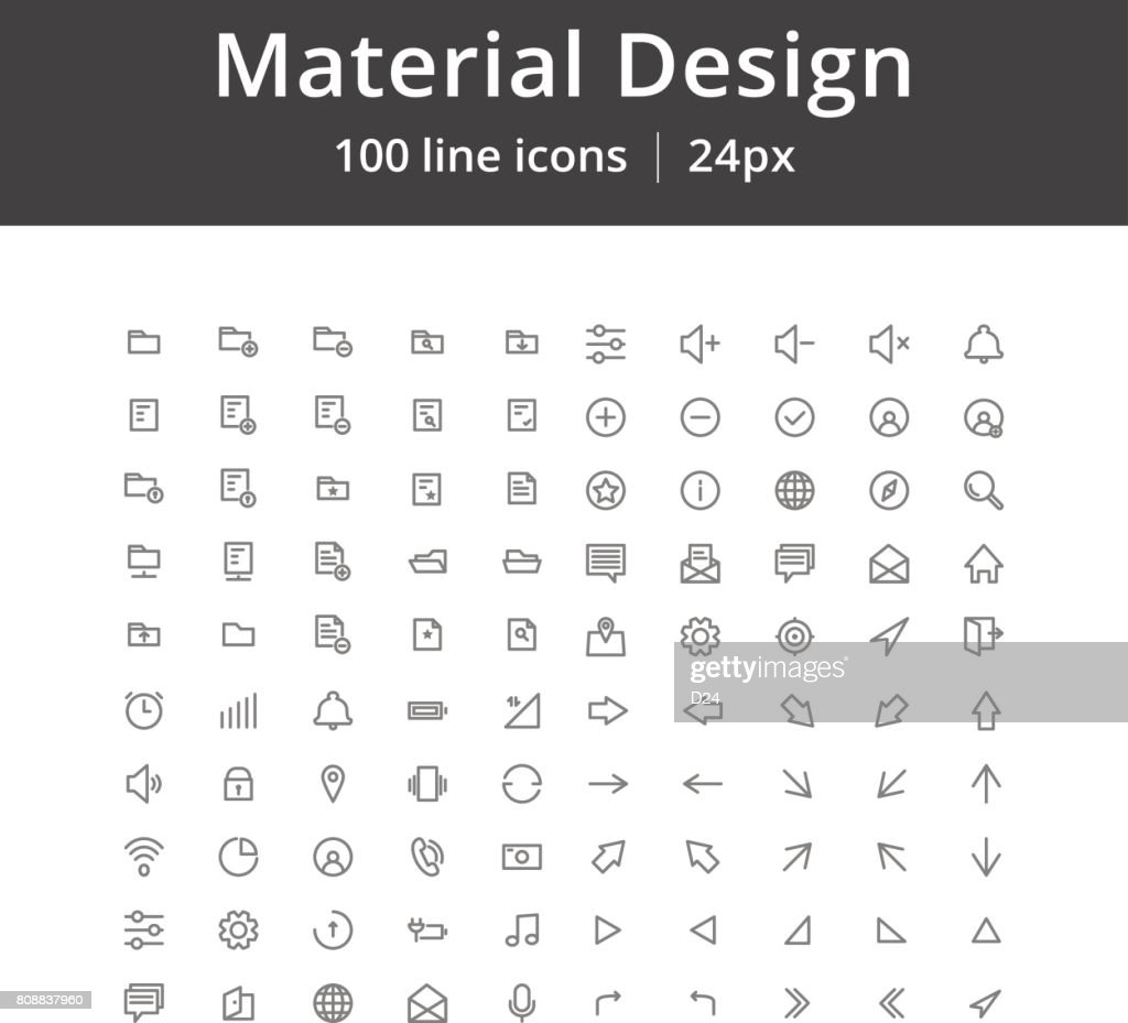 UI Mobile Line Icons