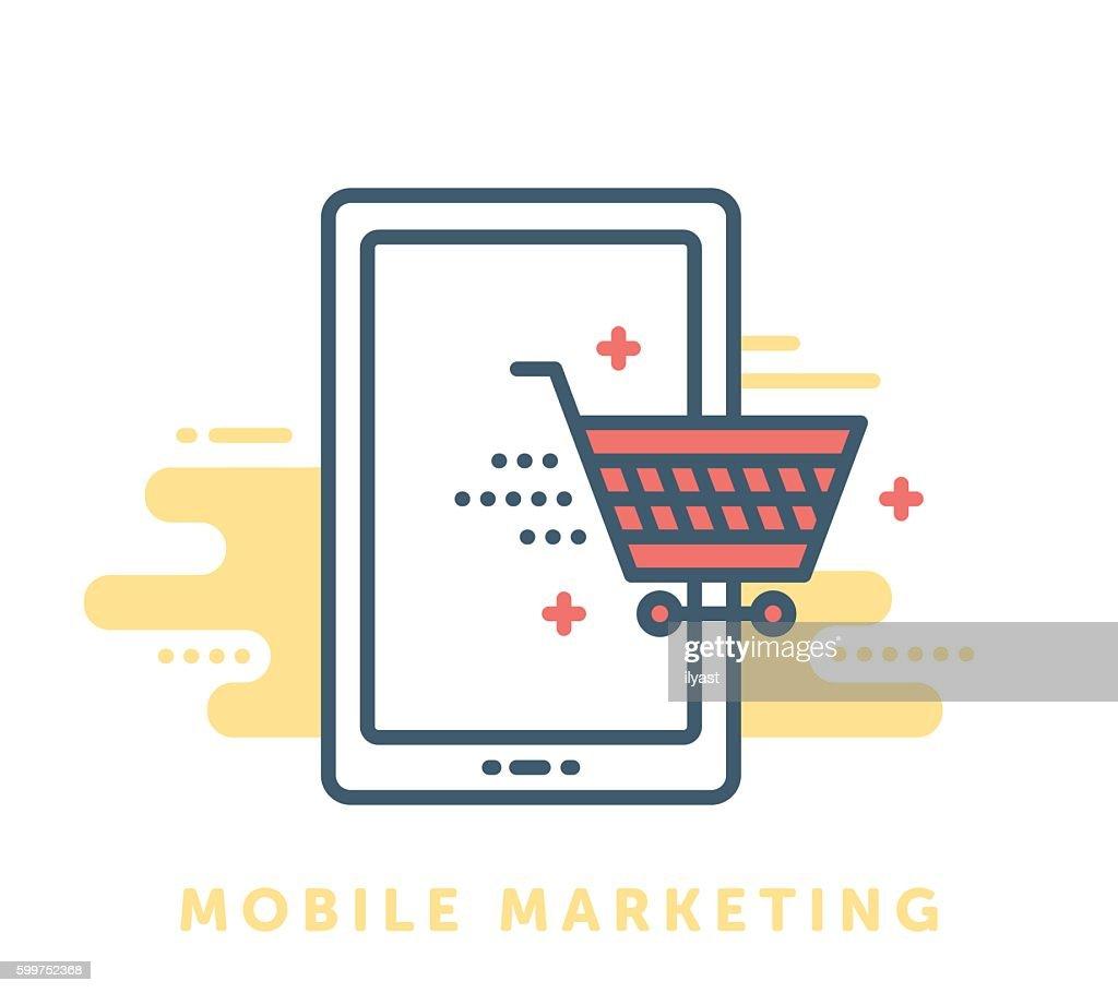 Mobile Marketing Symbol