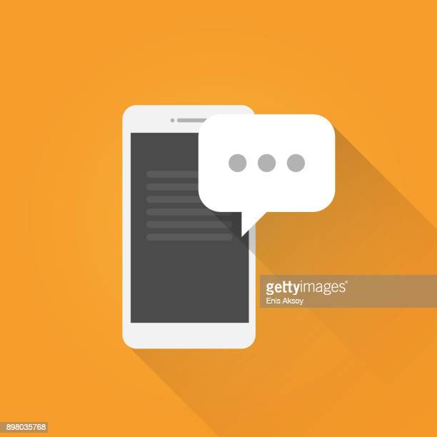 Mobile Message Flat Icon