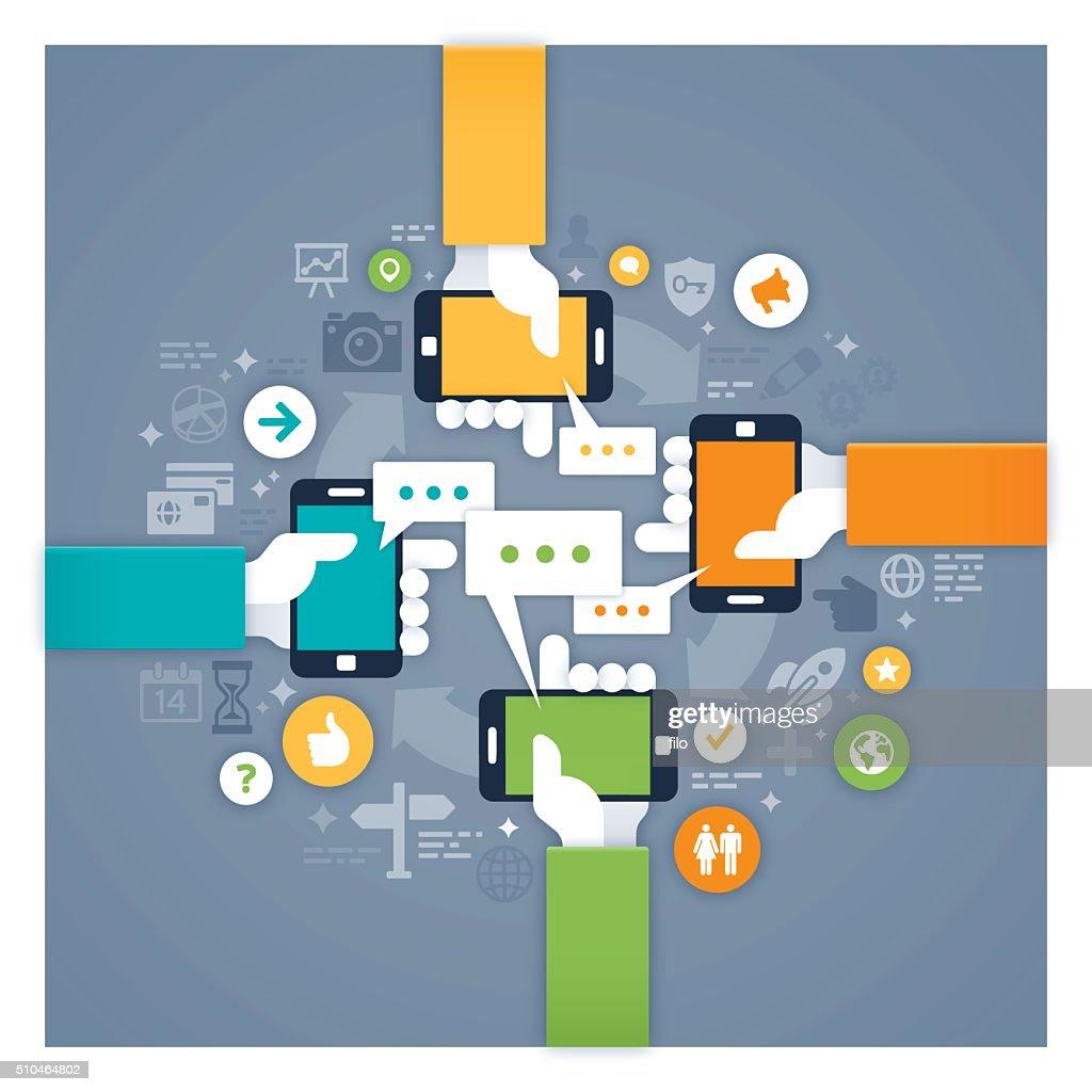 Mobile Networking : stock illustration