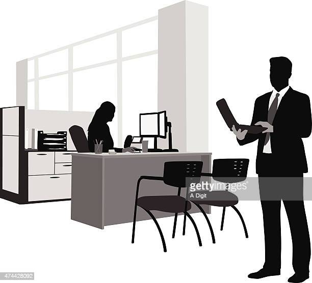 mobile office - office cubicle stock illustrations, clip art, cartoons, & icons