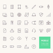 Mobile Outline Icons for web and mobile apps