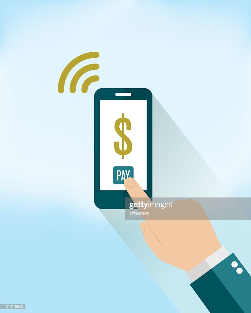 Mobile Payment on Smartphone : stock illustration