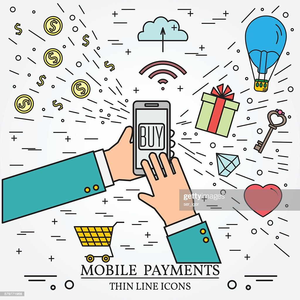 Mobile payments using a smartphone.