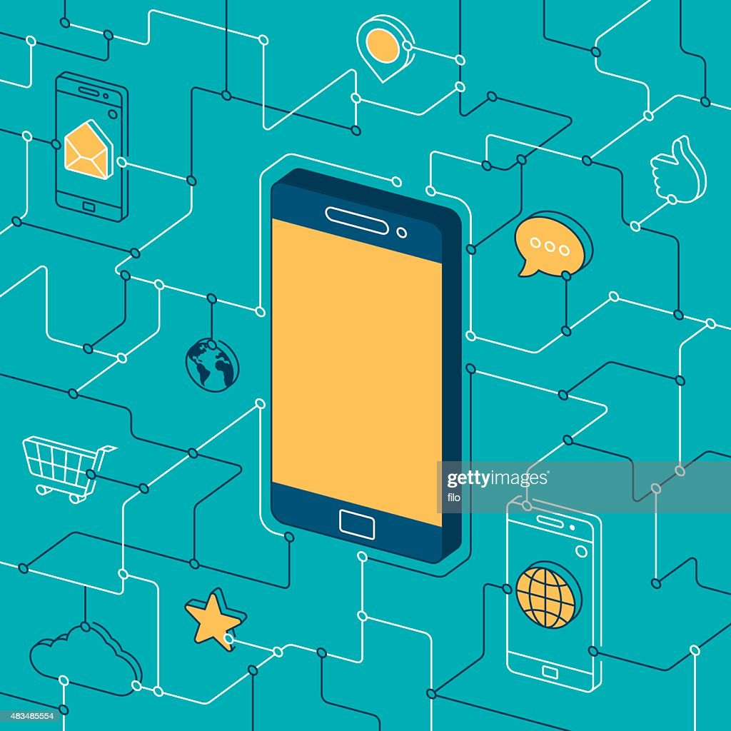 Mobile Phone and Apps : stock illustration