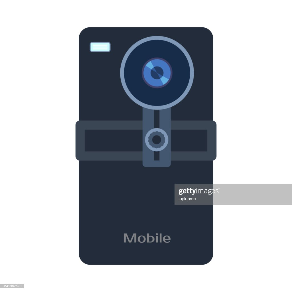 Mobile phone camera vector illustration