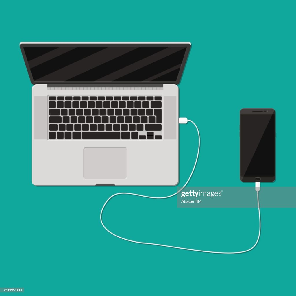Mobile phone charging from laptop usb port