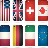 mobile phone covers - country flags