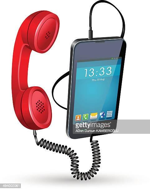 携帯電話ハンドセット - 受話器点のイラスト素材/クリップアート素材/マンガ素材/アイコン素材