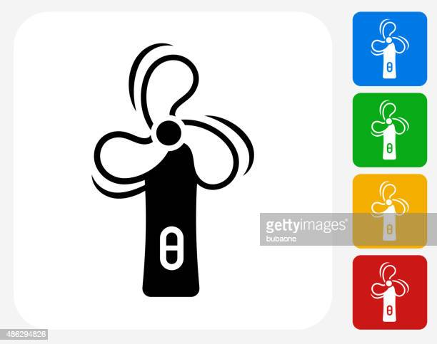 mobile phone icon flat graphic design - electric fan stock illustrations, clip art, cartoons, & icons