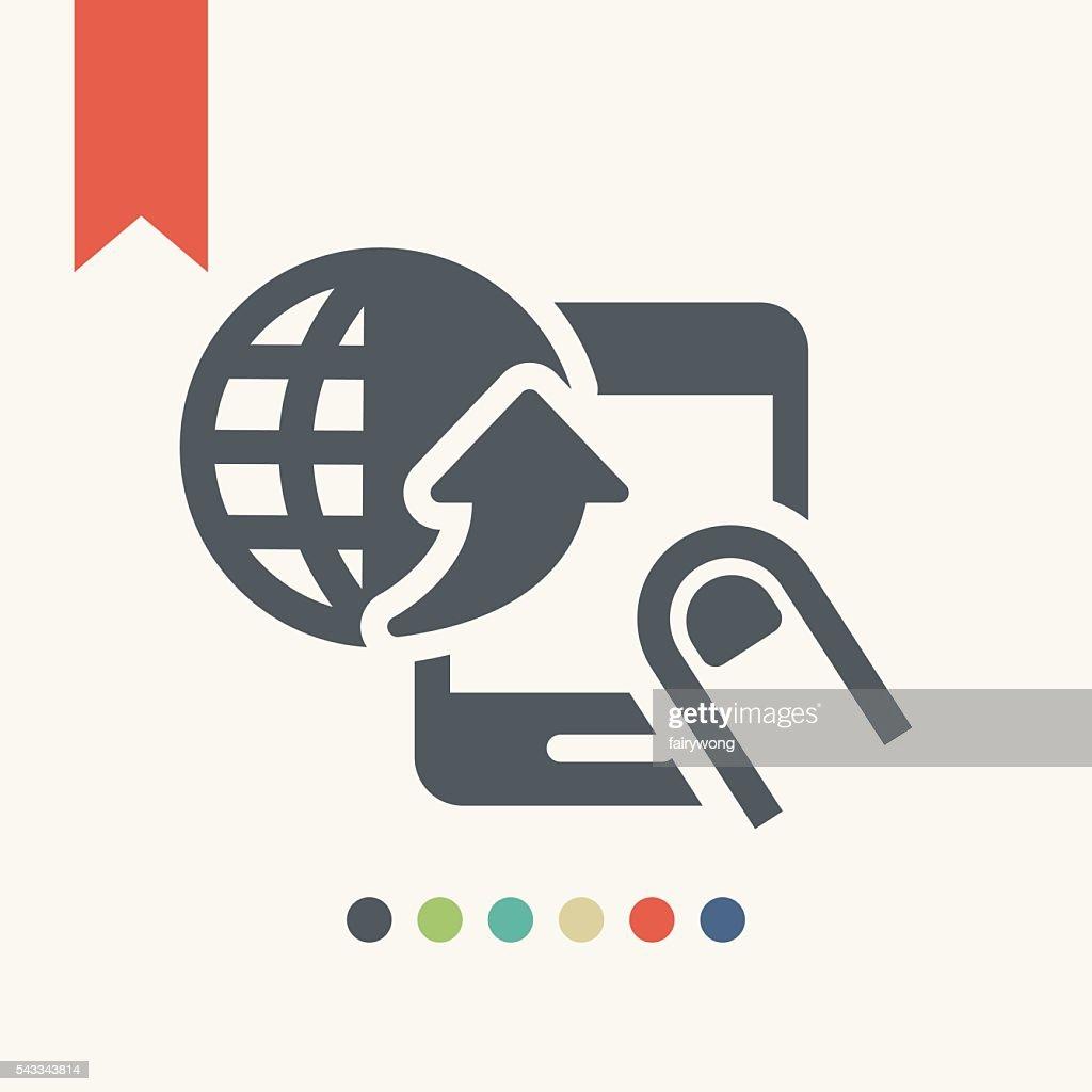 携帯電話インターネットアクセスのアイコン ベクトルアート getty images