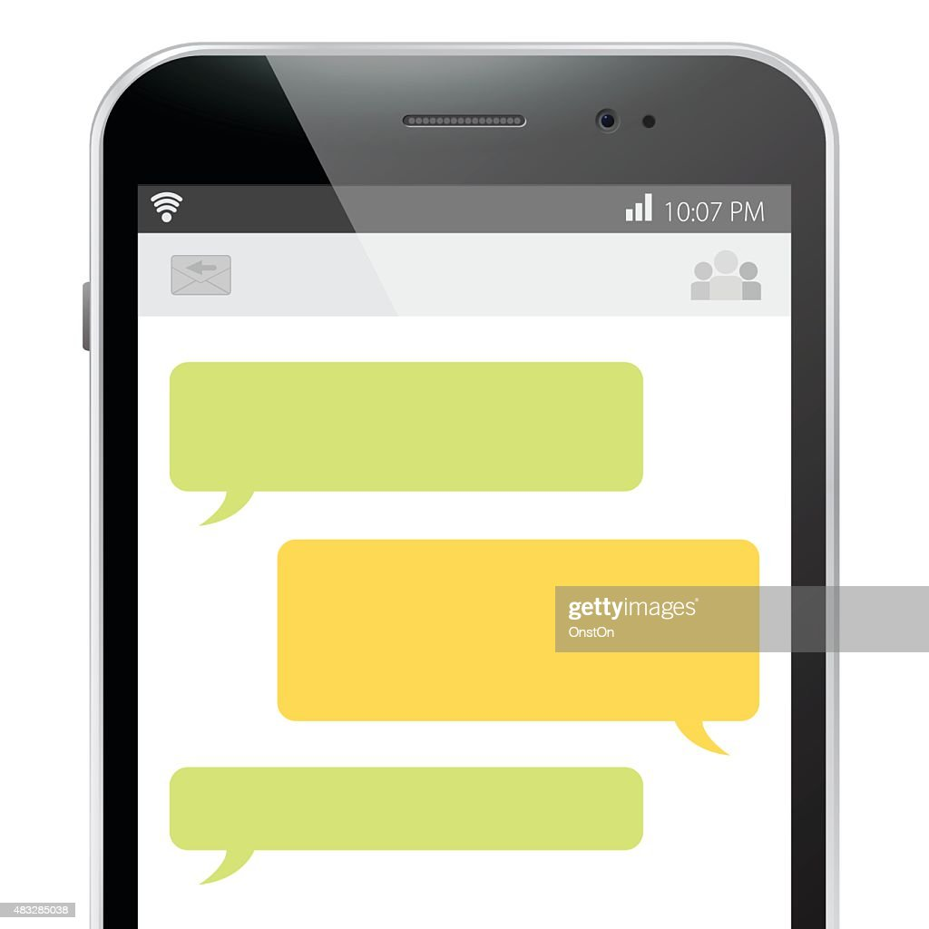 Mobile Phone Message Screen.