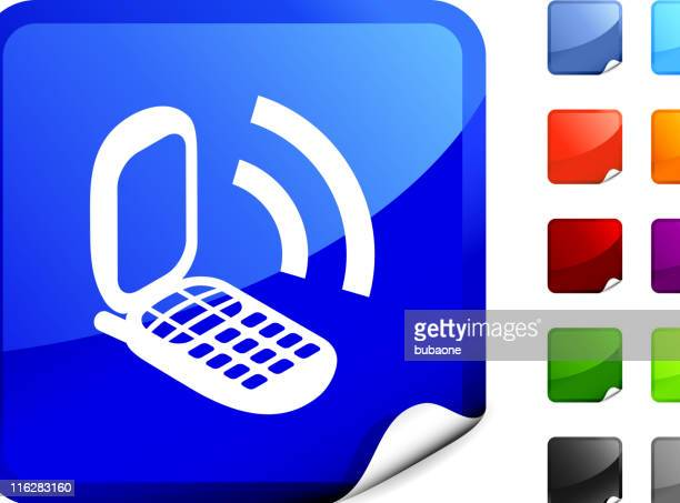 Mobile Phone on Blue Sticker