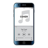 Mobile phone template for music cover