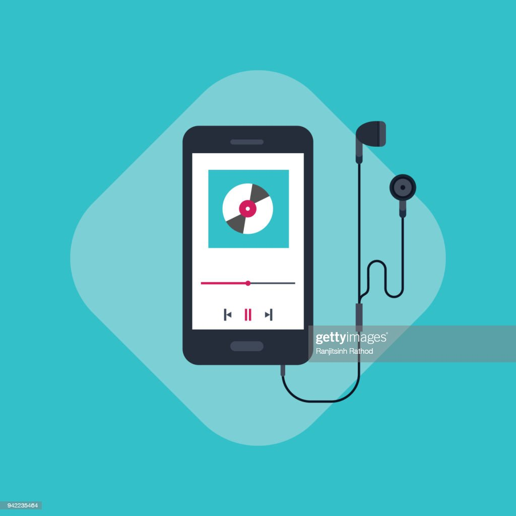 Mobile Phone Template For Music Cover Vector Art | Getty Images