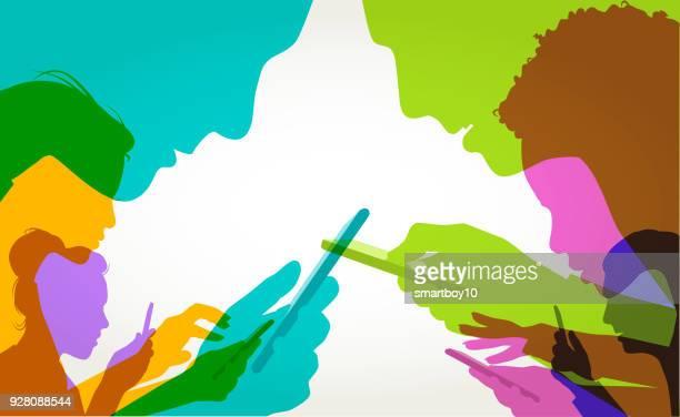 handy-nutzer - erwachsene person stock-grafiken, -clipart, -cartoons und -symbole