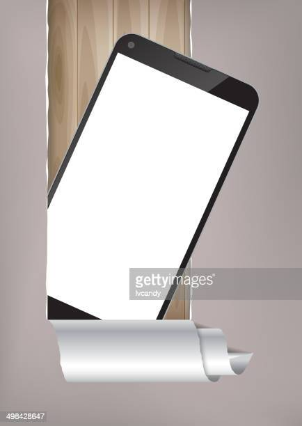 mobile phone - vertical stock illustrations, clip art, cartoons, & icons