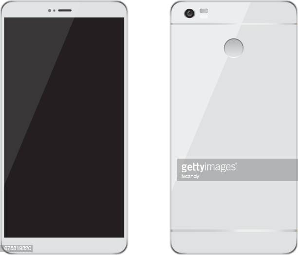 mobile phone - front view stock illustrations
