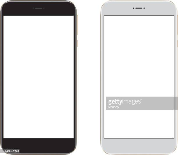 mobile phone - white background stock illustrations