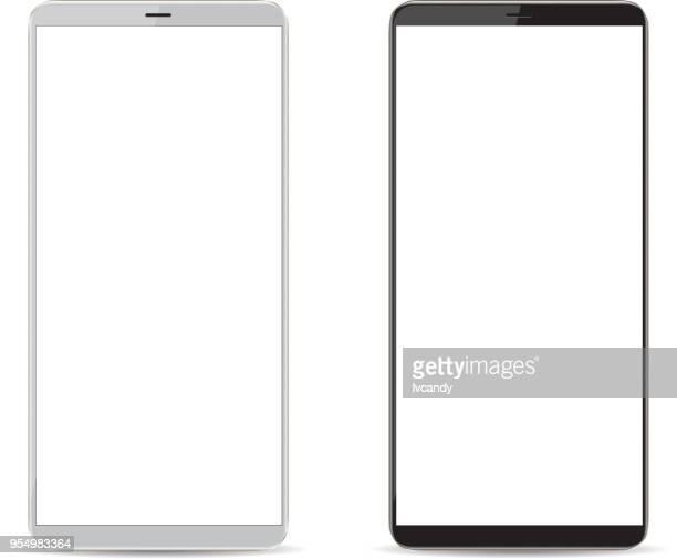 携帯電話、ブランク画面 - 空白の画面点のイラスト素材/クリップアート素材/マンガ素材/アイコン素材