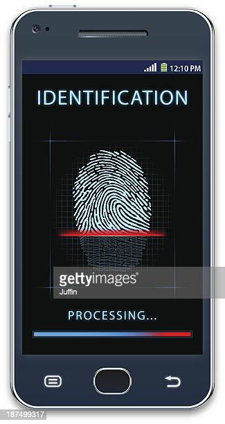 Mobile phone with fingerprint scanner