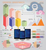 Mobile phone,info graphics,graph