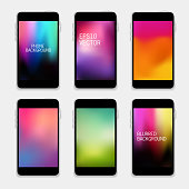 Mobile Phones Blurred Backgrounds