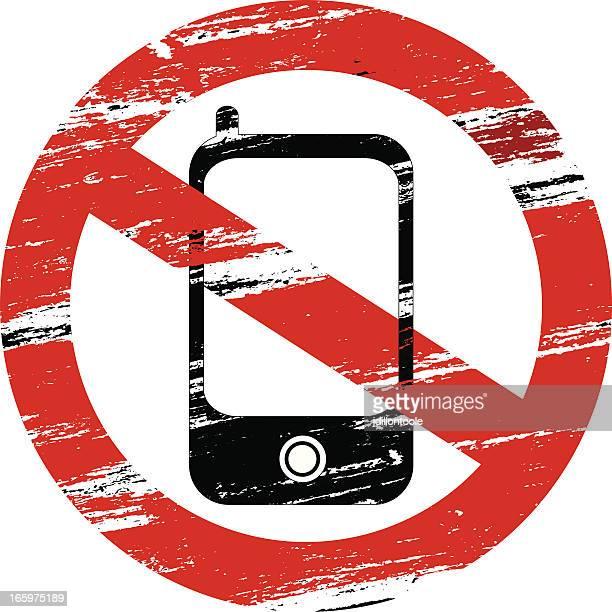 ilustrações de stock, clip art, desenhos animados e ícones de telemóveis proibida - proibido celular