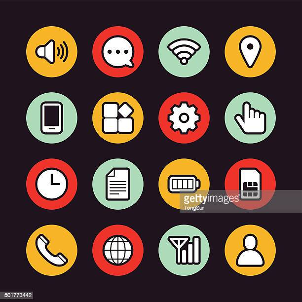 Mobile setting icons - Regular Outline - Circle