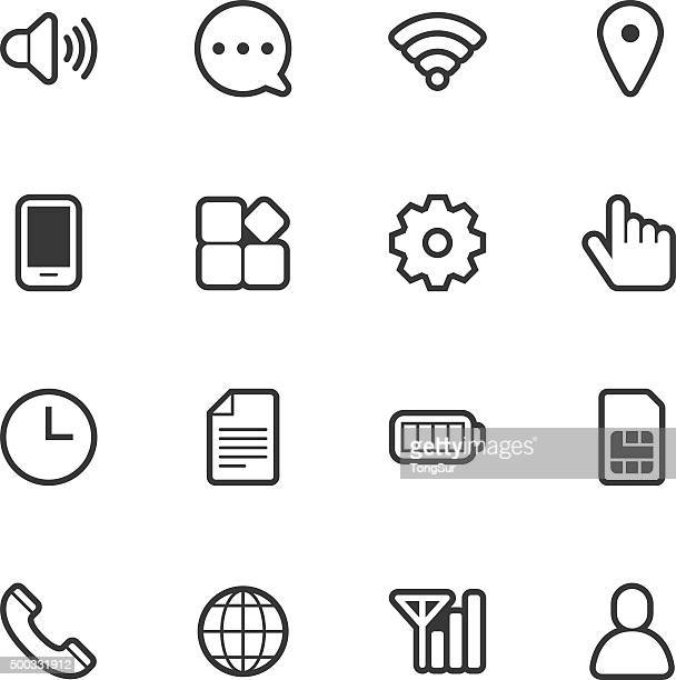 Mobile setting icons - Regular Outline