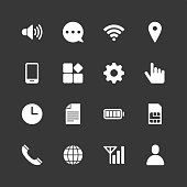 Mobile setting icons - Regular - White Series